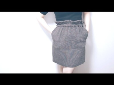 Sewing + Refashion Ruffle waist(top). paper bag waist Skirt