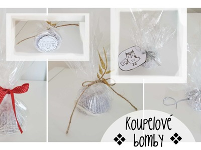 Šumivé bomby do koupele. diy gift. bath bombs