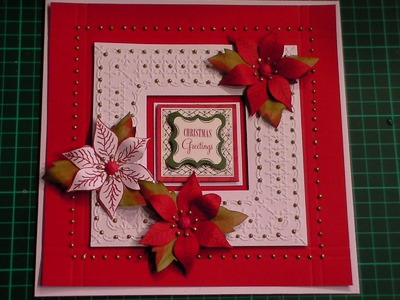 61. Cardmaking Tutorial - Floral Christmas Card & Anna Griffin Duet Embossing Folders