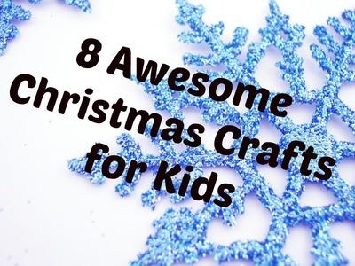 8 Easy Christmas Crafts for Kids!! | Shiya's Show