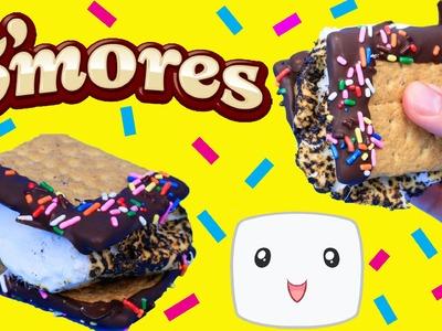 CHOCOLATE DIPPED S'MORES DIY Marshmallow Easy Kids Cooking Dessert + Smores Sprinkles DisneyCarToys