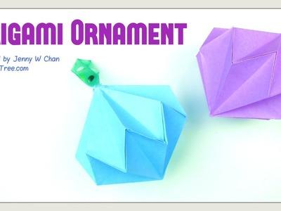 Christmas Crafts - Origami Diamond. Party Diamond Gemstone Ornament