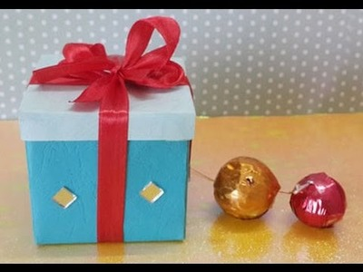 CHRISTMAS GIFT BOX : HOW TO MAKE A SMALL PAPER GIFT BOX IN 5 MINUTES!
