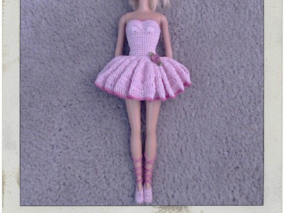 Crochet - Barbie's Ballerina Tutu & Slippers