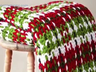 Crochet Plaid Afghan Tutorial