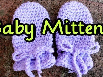 Crochet Tutorial: Easy No Seam Thumbless Baby Mittens ~ No Scratch Mits