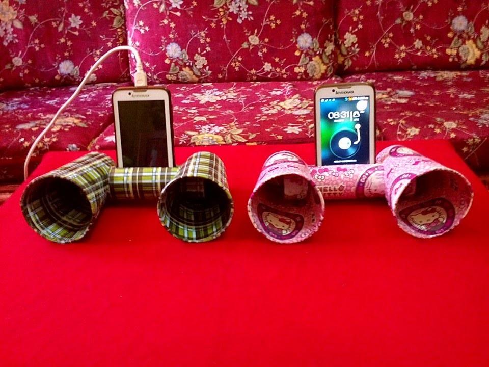 Diy 21 mobile speaker dock holder best out of waste my for Best out of waste diy ideas