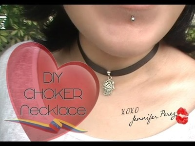 DIY Choker Necklace ~ Hamsa & Tree of Life :::.  Jennifer Perez of Mystic Nails ☆