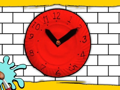 DIY Crafts for Kids   Paper Clock   Craft work with waste materials   Telling Time For Children