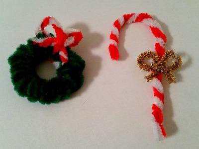 DIY de Noël : Sucre D'orge et Couronne en Fils chenille