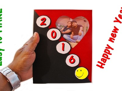 DIY - How to make a New Year Greeting Card - 2016 for your loved one