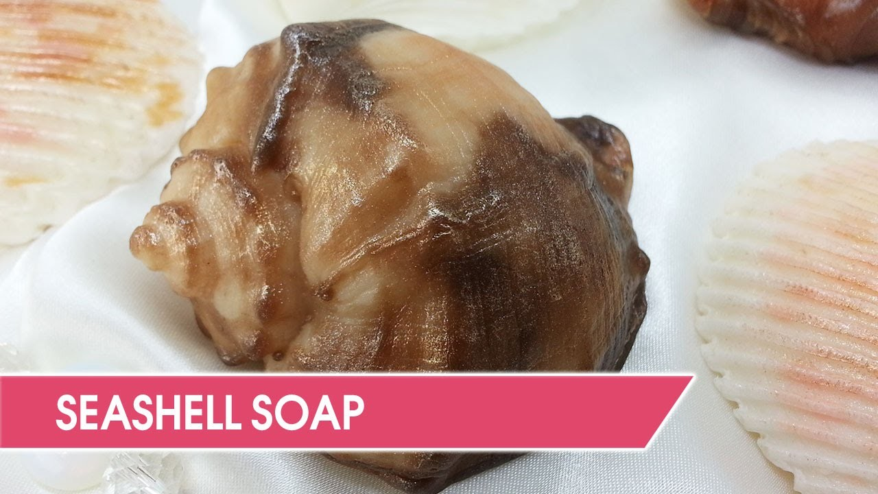 DIY: Making seashell soap at home. Custom silicone mold.
