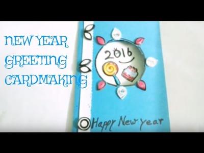 diy new year cardmakinghappy new year 2016 greeting card