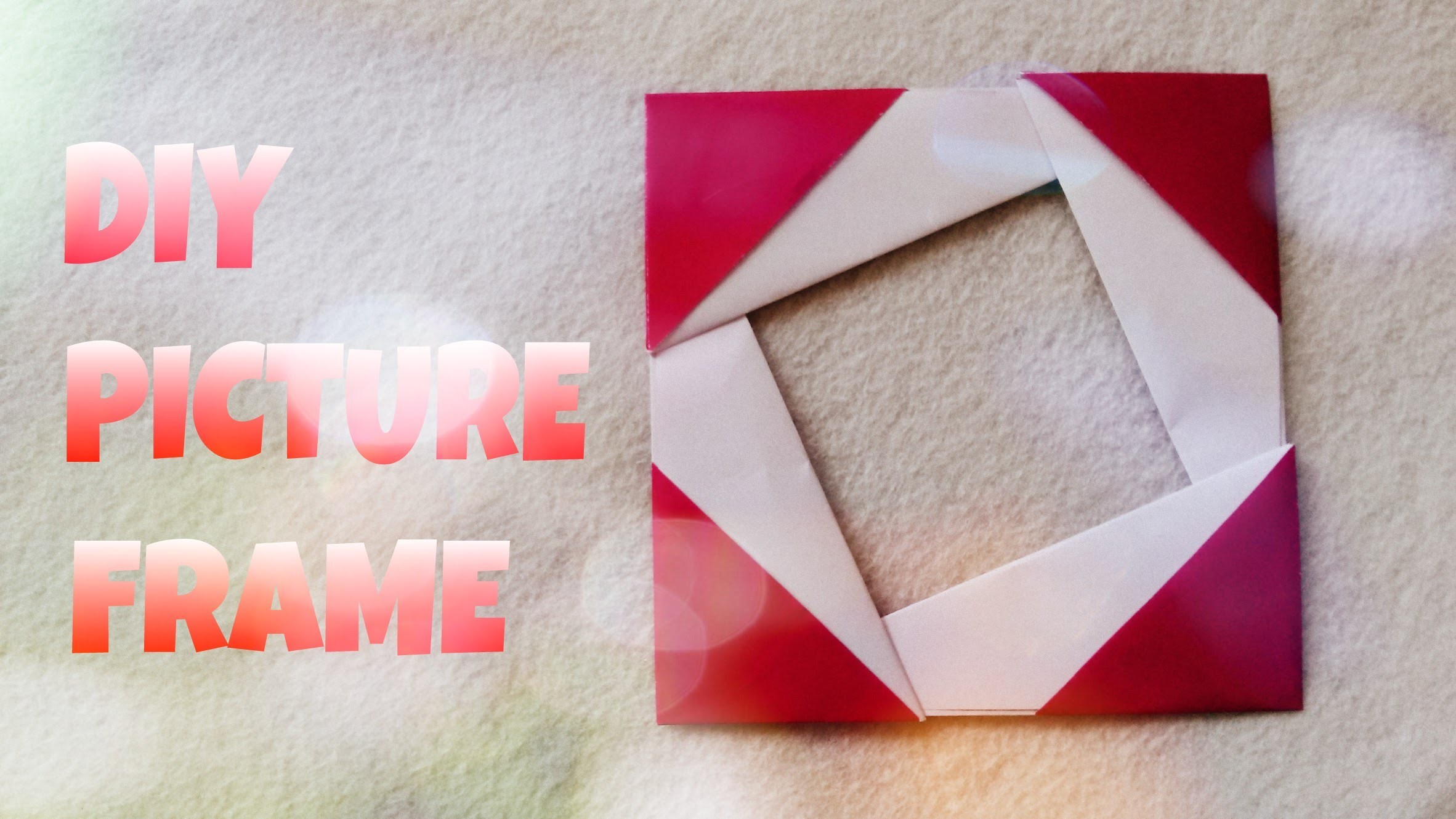 diy - photo frame handmade - picture frame making with paper