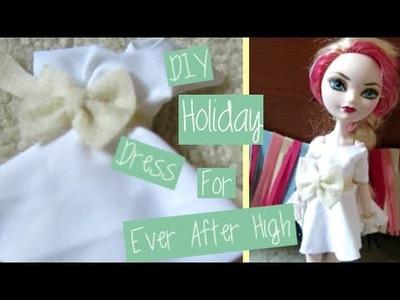 DIY Skater Dress for Ever After High Doll|Holiday Dress