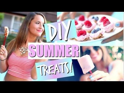 DIY Summer Treat Ideas! Easy + Healthy