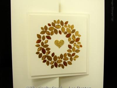 Embossed Wonderous Wreath Christmas Cards