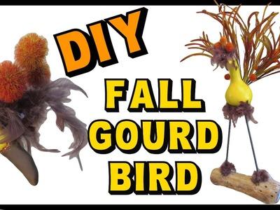 Fall Gourd Bird DIY ~ Craft Klatch