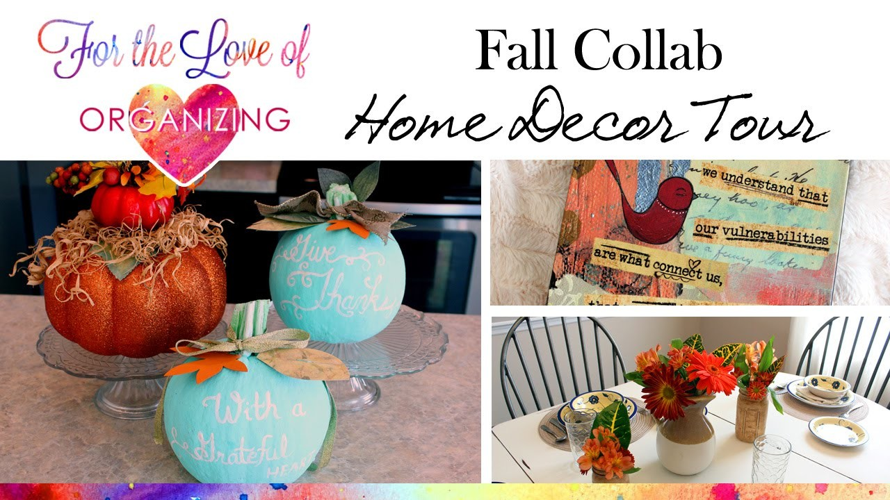 Fall Home Decor Tour and DIY Painted Pumpkins