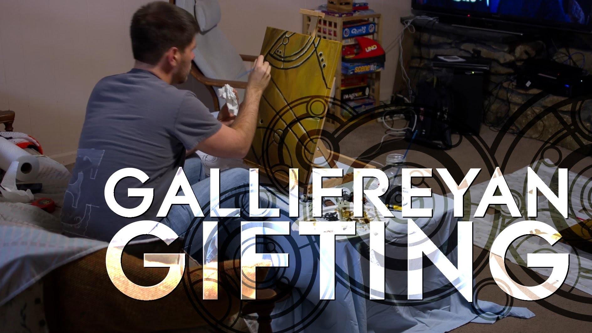 Gallifreyan Gifting - Making Doctor Who Art for My Sister's Christmas Present!