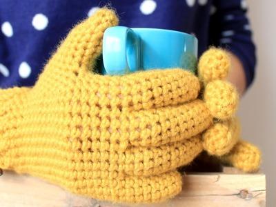 Guantes a Crochet (con dedos) | How to crochet gloves