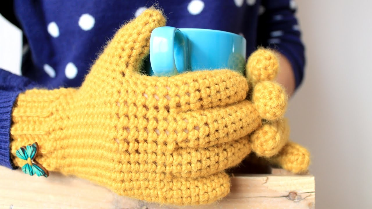 Guantes a Crochet (con dedos) | How to crochet gloves