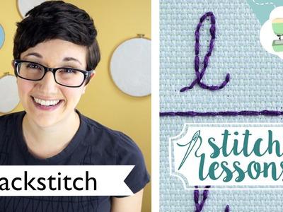Hand Sewing Backstitch (Stitch Lessons)