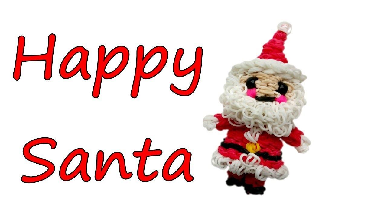 Happy Santa Claus Tutorial by feelinspiffy (Rainbow Loom)
