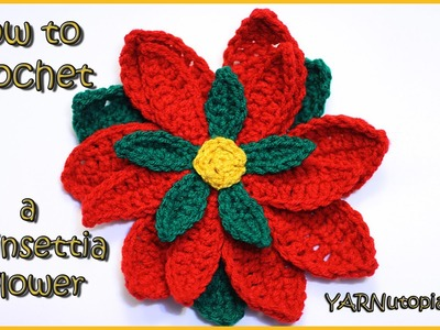 How to Crochet a Poinsettia Flower