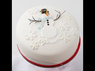 How To Decorate A DIY Snowman Cake