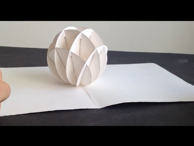 How To Make 3D Christmas Snow Ball  Pop Up Card Kirigami Tutorial