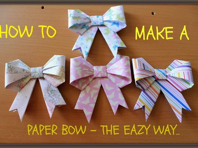 How to Make a Paper Bow for Gift and Christmas Decor ( Kirigami Style )
