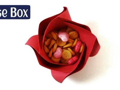 "How to make a Paper ""Rose Flower Box"" - (Diwali.Christmas.Eid - Gift ideas) - Origami"