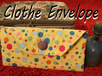 How to make an Envelope out of Fabric - Sewing Tutorial - Letter