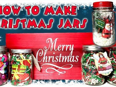 How to make CHRISTMAS HOLIDAY JARS | Kid Crafts | KidToyTesters