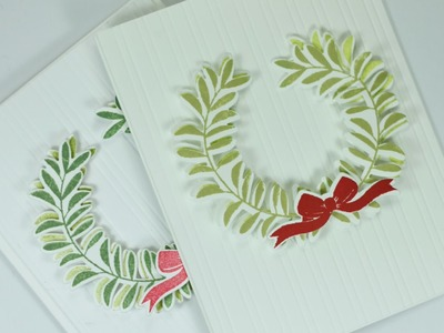 How to Make Clean & Simple Christmas Cards