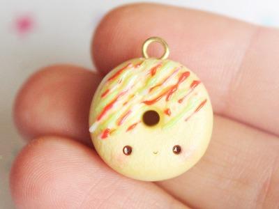 Kawaii Christmas Donut │ Polymer Clay Tutorial