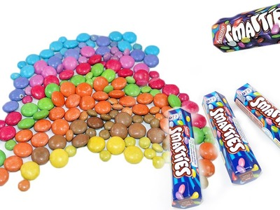 Learn colours whit Smarties Candy Rainbow Party! Fun learning