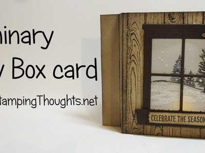 Luminary Shadow Box Christmas card featuring Happy Scenes stamp set from Stampin' Up!