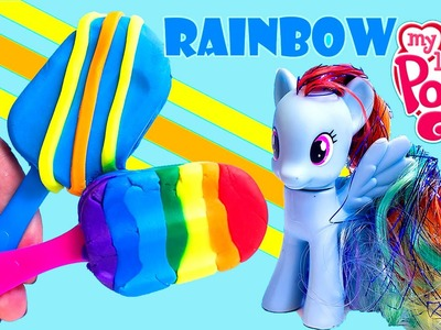 My Little Pony Rainbow Dash Play Doh Ice Cream Make Play Dough Popsicles MLP Toys Review