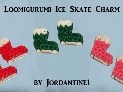New Loomigurumi Ice Skate - Winter. Christmas. Holiday - Rainbow Loom - Rubber Band Crochet - Easy