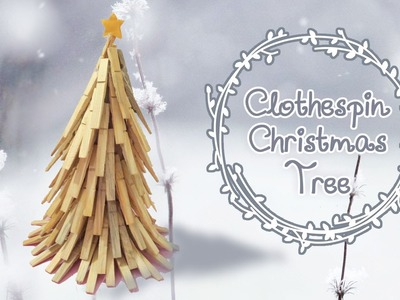 Non-traditional Clothespin Christmas Tree DIY | Sunny DIY