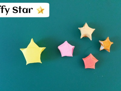 """Origami Paper - """"Tiny Puffy Lucky star""""(Diwali. Christmas. Eid - Decoration)- Simple & Easy."""