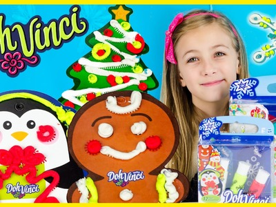 PLAYDOH DOHVINCI DIY ORNAMENTS & GIFT TAGS KITS! HOLIDAY ARTS & CRAFTS PROJECT FOR KIDS PLP TV