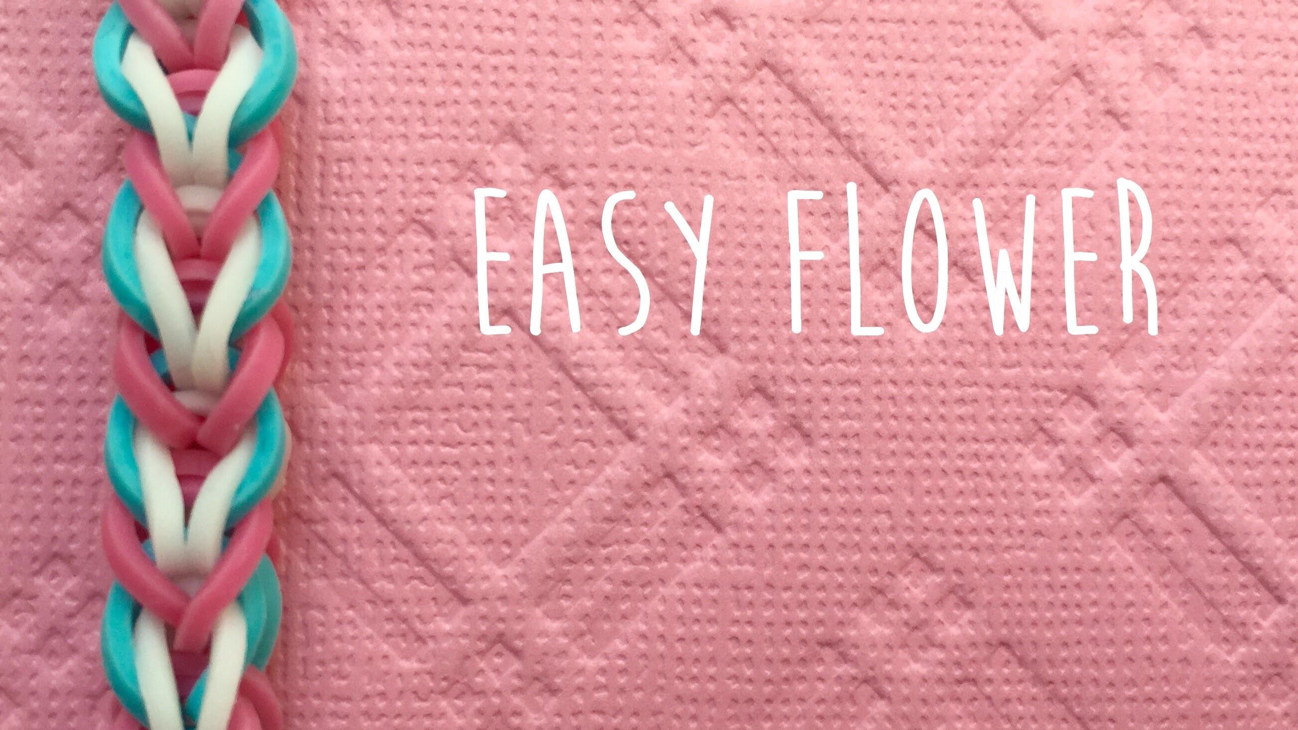 Rainbow loom bands Easy Flower