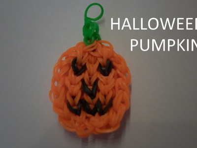Rainbow loom Halloween pumpkin