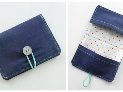 {Step-by-Step Sewing} Fabric Business Card. Money Card Holder