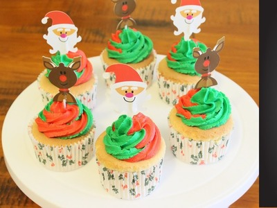 Super Easy and Quick Christmas Cupcakes | Craft of Giving