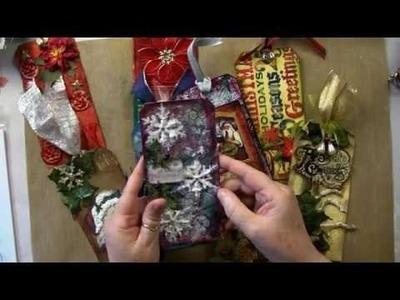 Tim Holtz Distress Paints Christmas Tags