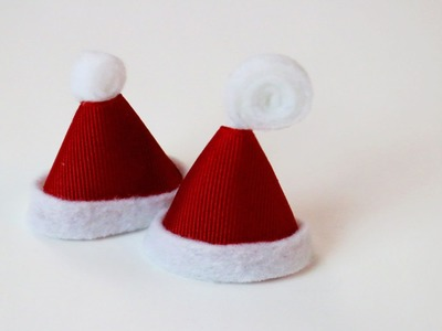 3 EASY Holiday.Christmas hairbow tutorials | snowflake, present, santa hat hair clips